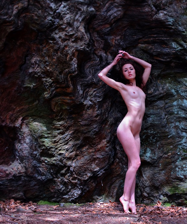 Rock Strata Artistic Nude Photo print by Artist Kevin Stiles