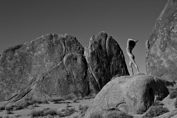 Rock Walls Artistic Nude Photo print by Photographer David Winge
