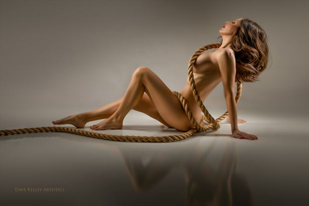 Rope Artistic Nude Photo print by Photographer Dave Kelley Artistics