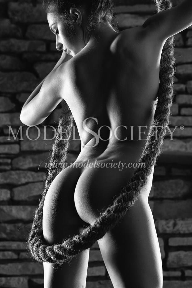 Rough Hessian Hawser Artistic Nude Photo print by Photographer Carl Grim