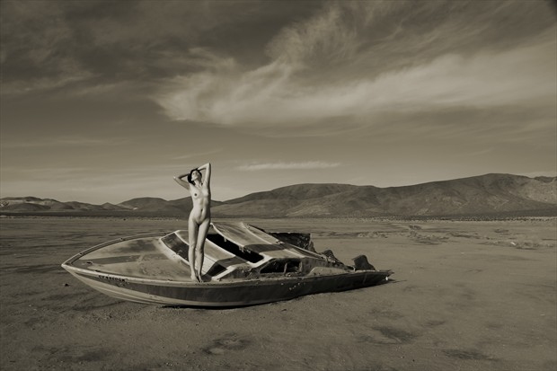 Running Aground Artistic Nude Photo print by Photographer David Winge