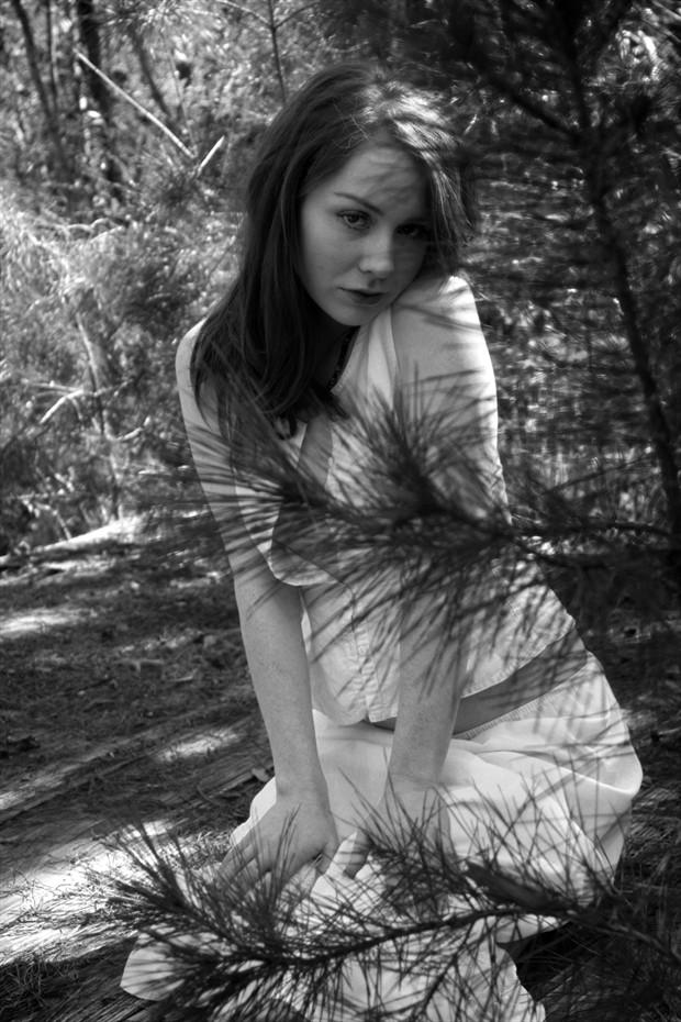 Salena's Test Shoot Lingerie Photo print by Photographer Leland Ray