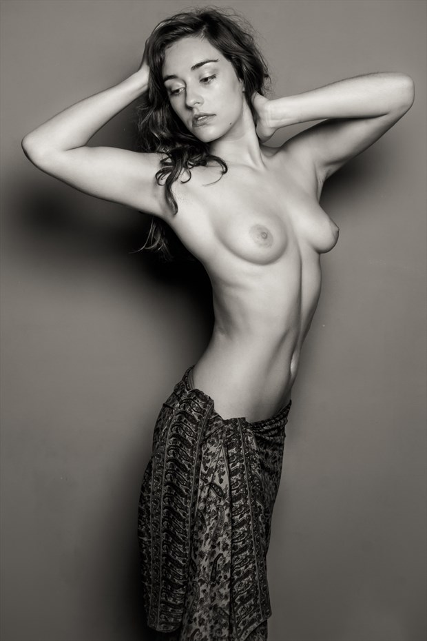 Sarong Fashion Nude Artistic Nude Photo print by Photographer Risen Phoenix