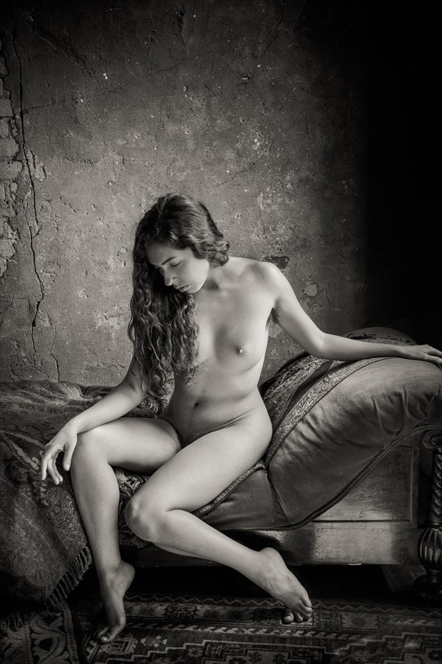 Seated Nude  Artistic Nude Photo print by Photographer Risen Phoenix