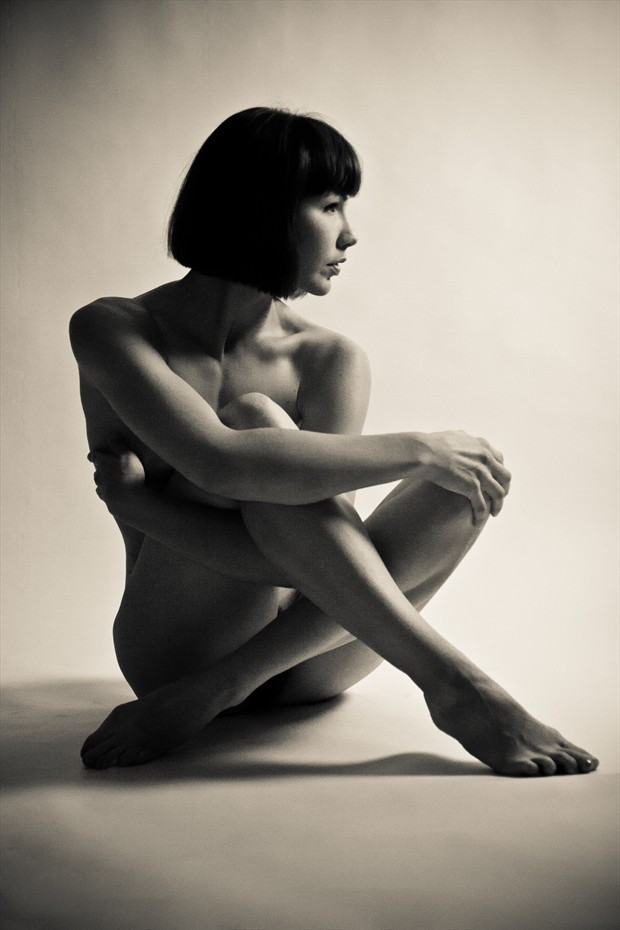 Seated Nude Artistic Nude Photo print by Photographer 3 Graces Photography