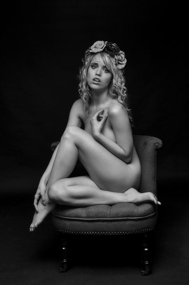 Seated Nude Artistic Nude Photo print by Photographer John Logan