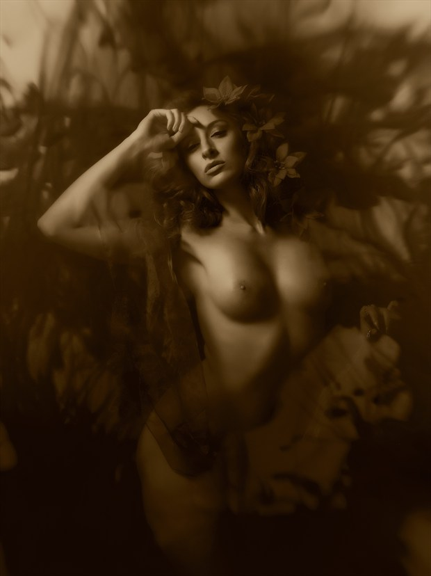Sepia Fantasy Artistic Nude Photo print by Photographer Ray Kirby