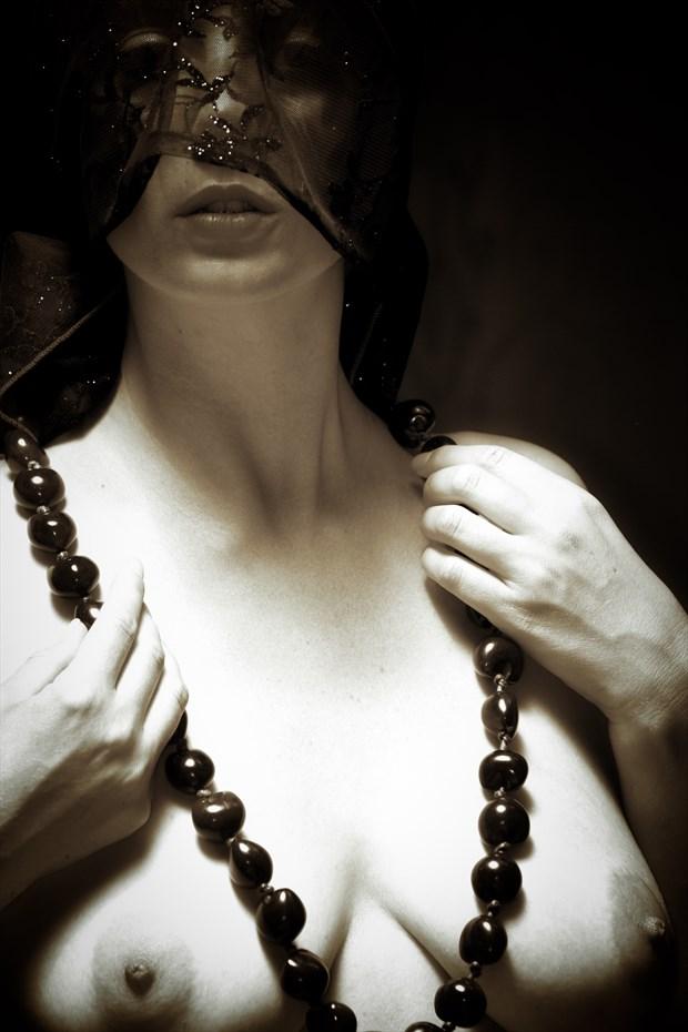 Shawl of Light Artistic Nude Photo print by Photographer John Matthews