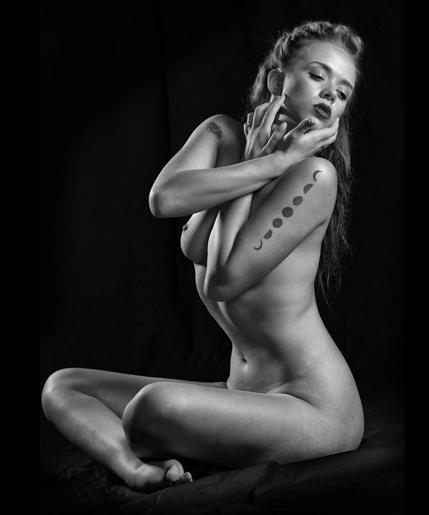 Shut Down Artistic Nude Photo print by Model Aurora Red
