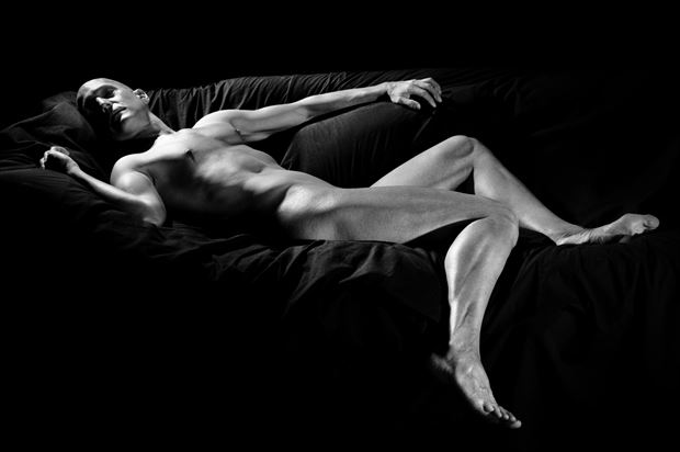 Silvery Artistic Nude Photo print by Model Avid Light