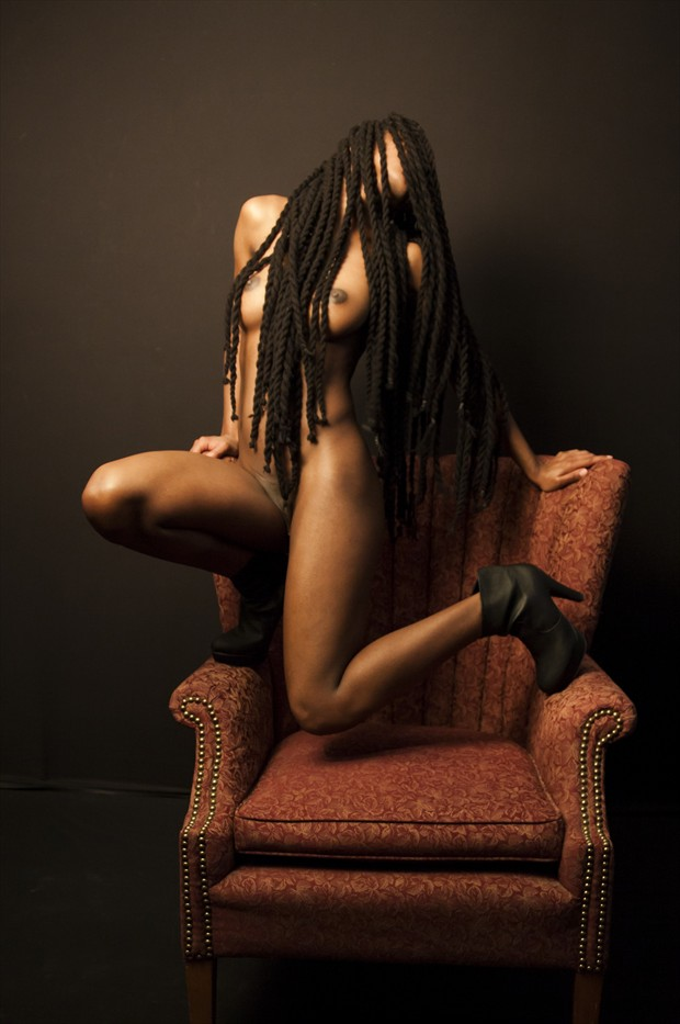 Simone and the Chair Artistic Nude Photo print by Artist Freddie Graves