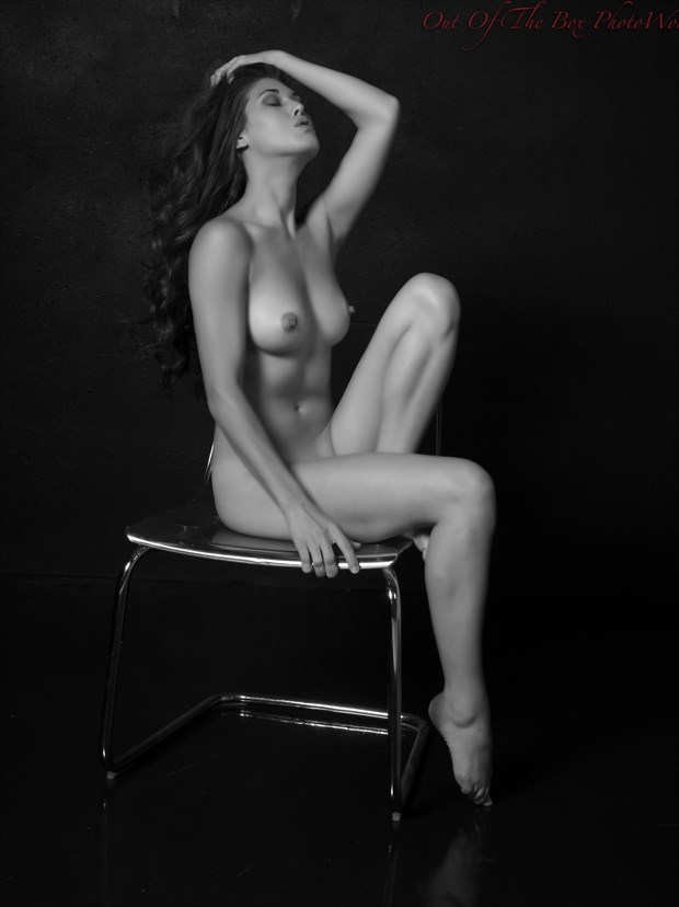 Sitting Here Naked Artistic Nude Photo print by Photographer Miller Box Photo
