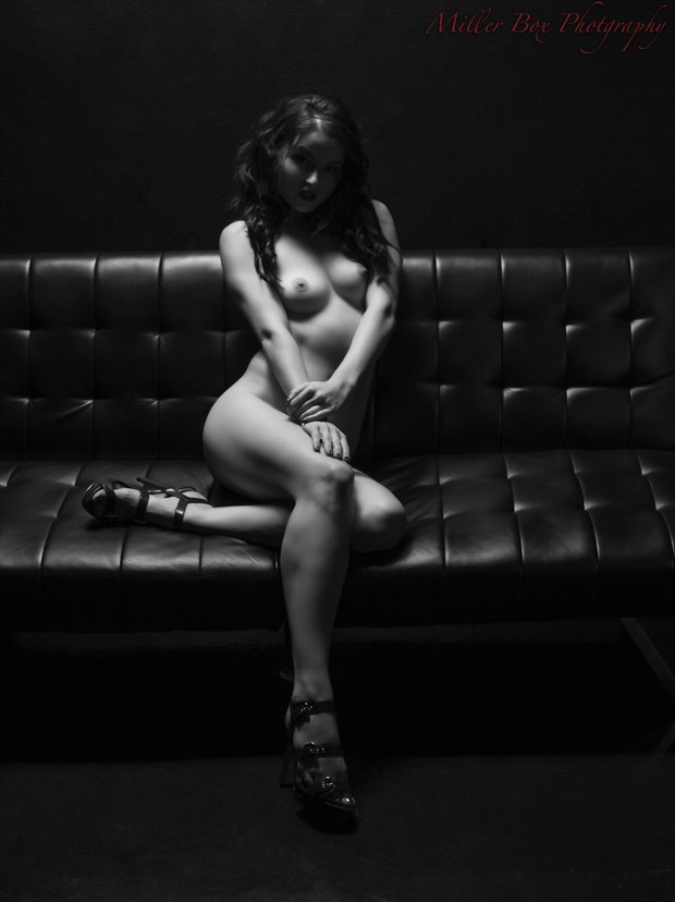 Sitting in the Dark Artistic Nude Photo print by Photographer Miller Box Photo