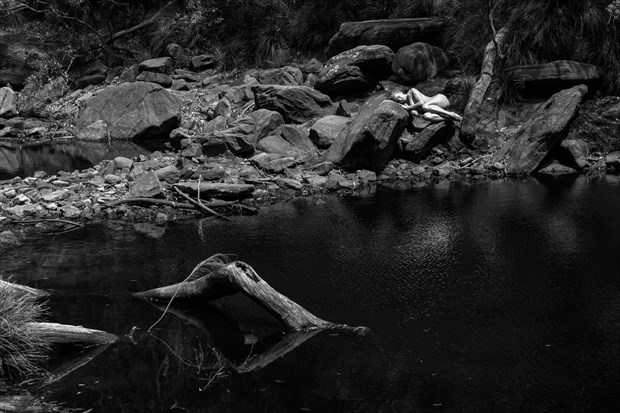 Sleeping By the Creek Artistic Nude Photo print by Photographer Stephen Wong