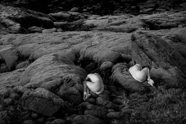 Sleeping Icelandic Fairies Artistic Nude Artwork print by Photographer Vivid Impressions