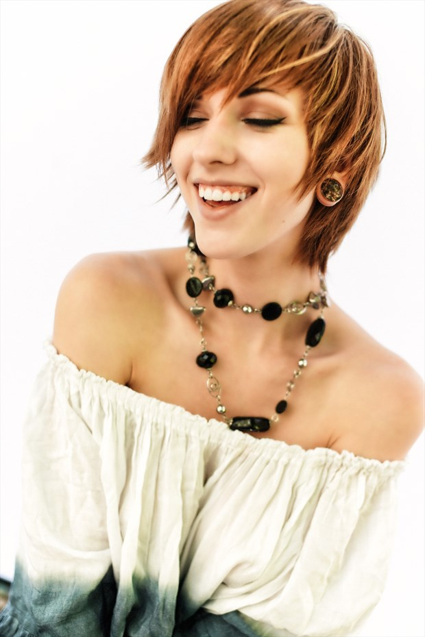 Smile like you mean it Glamour Photo print by Model Saturn Werde