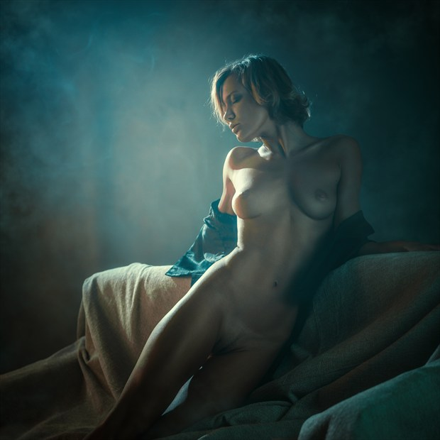 Smoke cigarettes Artistic Nude Photo print by Photographer dml