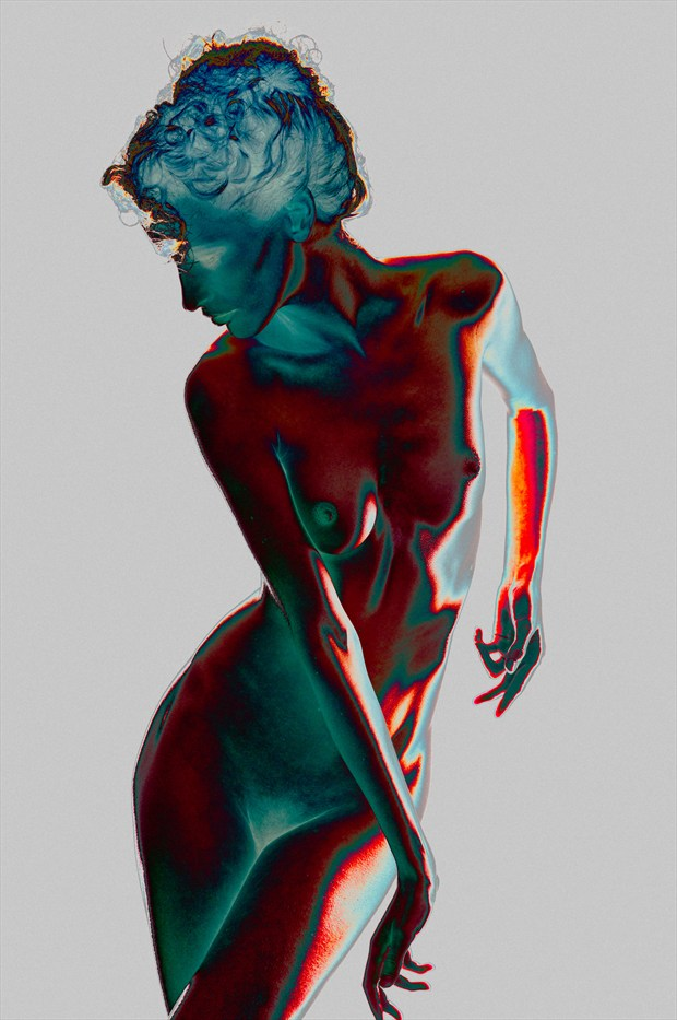 Solarization %231 Artistic Nude Photo print by Photographer Bruce M Walker