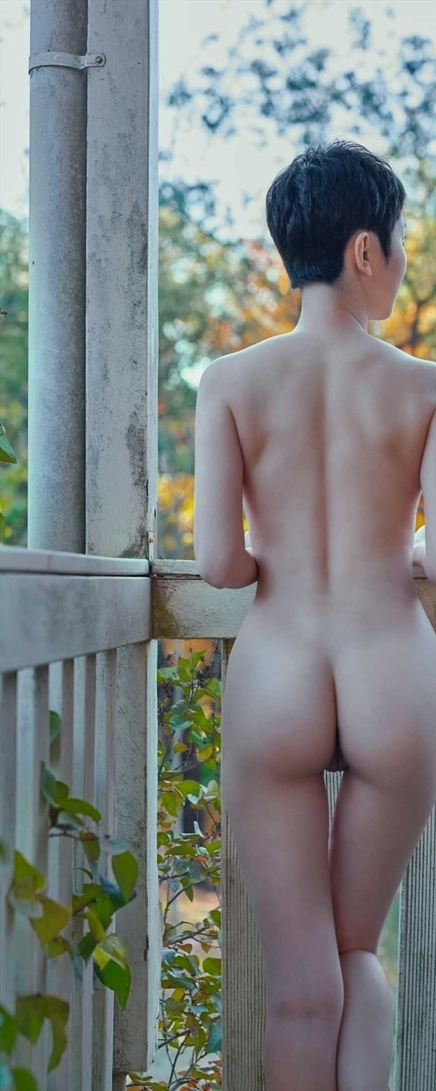 Sonya at the Balcony  Artistic Nude Photo print by Photographer Keith Persall