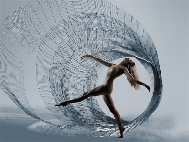 Spiral Dancer Artistic Nude Photo print by Photographer Ray Kirby