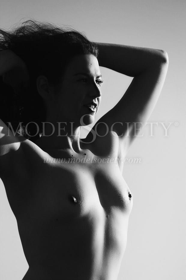 Split Light Edged Artistic Nude Photo print by Artist AnneDeLion