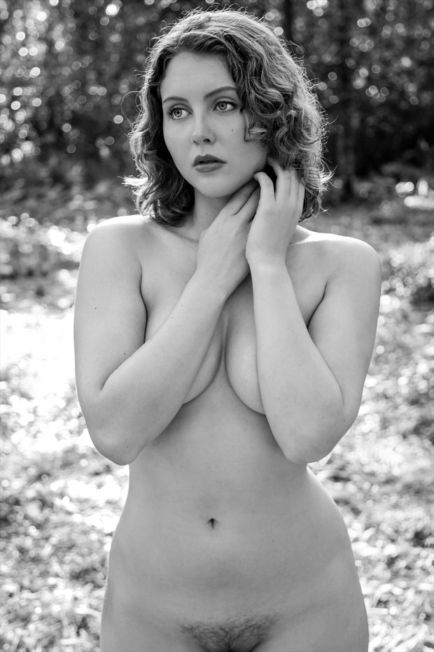 Standing Nude of Lila Blue Artistic Nude Photo print by Photographer Risen Phoenix