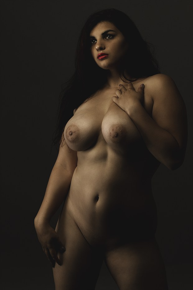 Standing proud, Standing sad Artistic Nude Artwork print by Model Animaedi