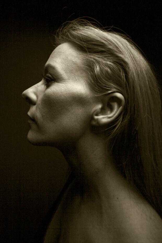 Studio Lighting Expressive Portrait Photo print by Photographer CurvedLight