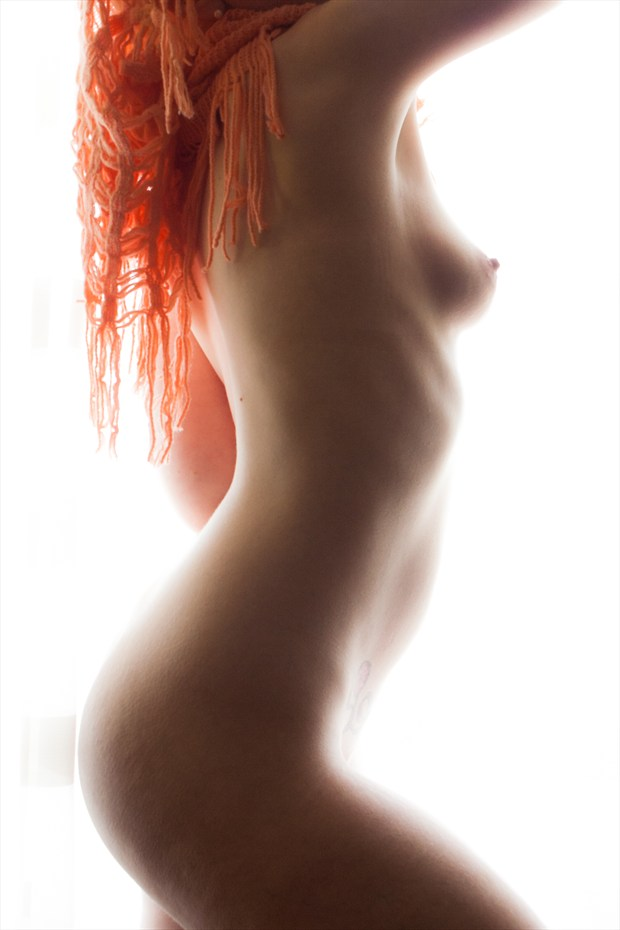 Sublime Orange 1 Artistic Nude Photo print by Photographer Frisson Art