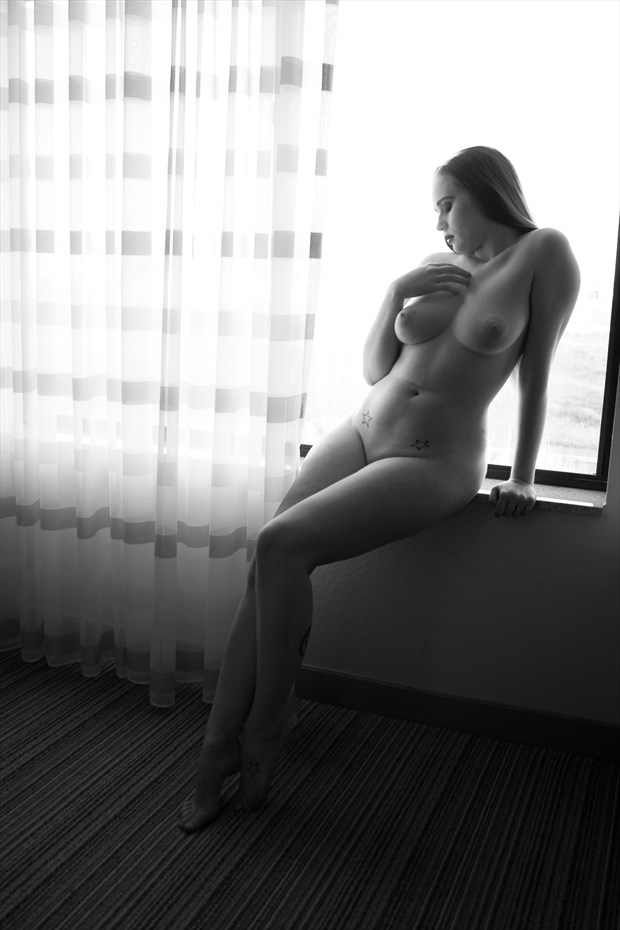 Sunlight on my skin Artistic Nude Photo print by Photographer Frisson Art