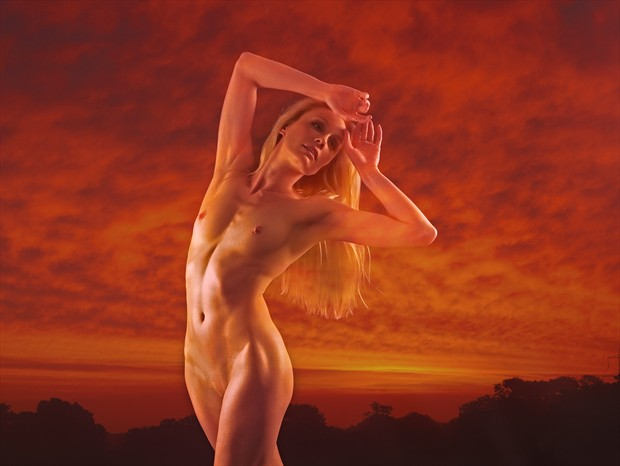 Sunset Artistic Nude Photo print by Photographer Ray Kirby