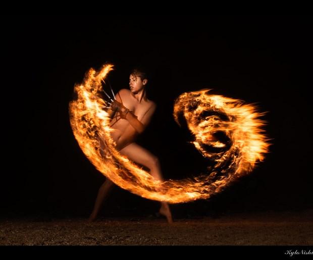 Sweep you up in wings of fire Surreal Photo print by Model Reece de la Tierra