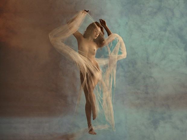 Swirling Artistic Nude Photo print by Photographer Ray Kirby