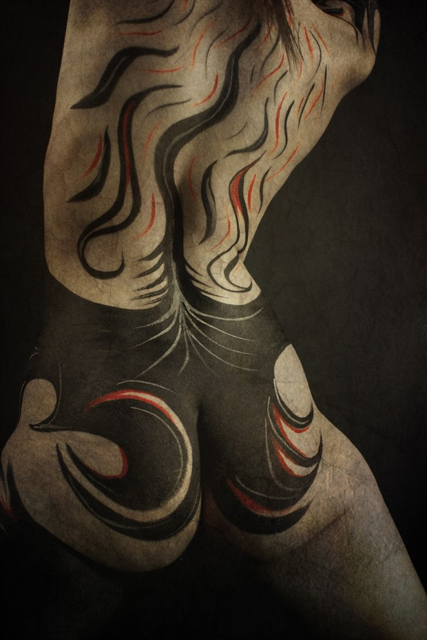 Swirls of Granite Sensual Photo print by Artist Addenda Studios