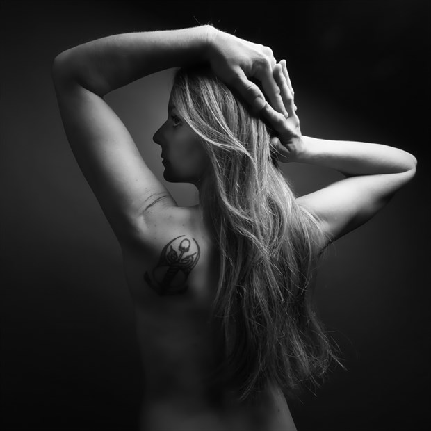 Tattoos Implied Nude Photo print by Photographer CurvedLight