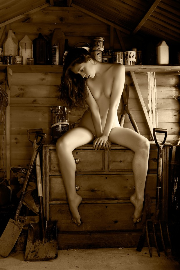 The Garden Shed Artistic Nude Photo print by Photographer Ray Kirby