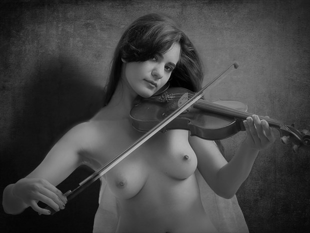 The Naked Violinist Artistic Nude Photo print by Photographer PhotoRP