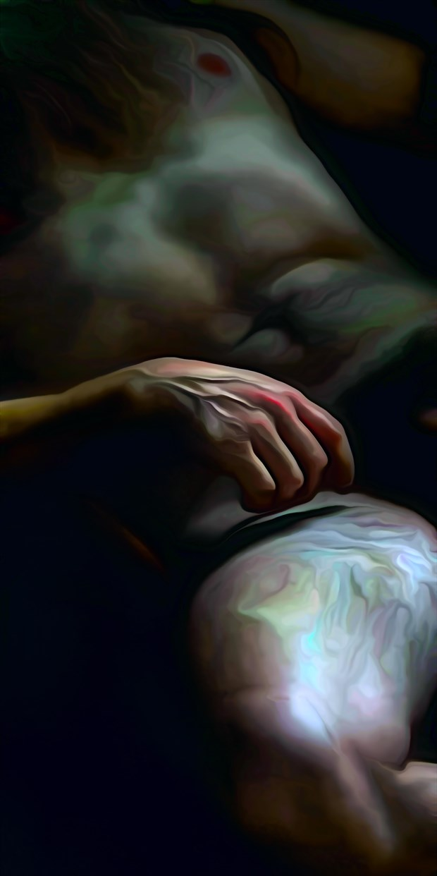 The Painters Hand Artistic Nude Artwork print by Photographer Photorunner
