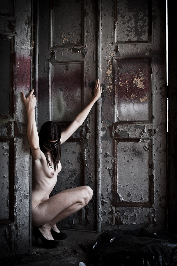 The Tortured Door Artistic Nude Photo print by Photographer Frisson Art