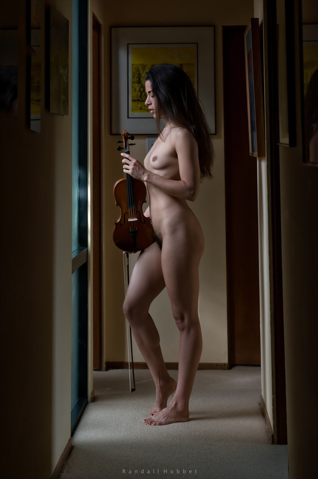 The Violinist Artistic Nude Photo print by Photographer Randall Hobbet