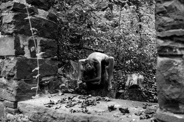 The Weight of my Bones Artistic Nude Photo print by Model Reece de la Tierra