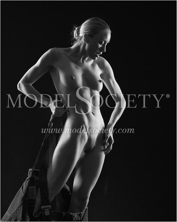 Three sizes too big. Artistic Nude Photo print by Photographer Carl Grim