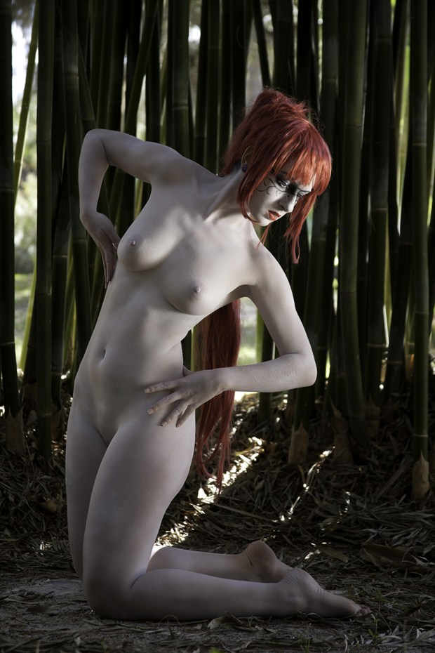 Twisted Bamboo Artistic Nude Photo print by Photographer Chris Gursky