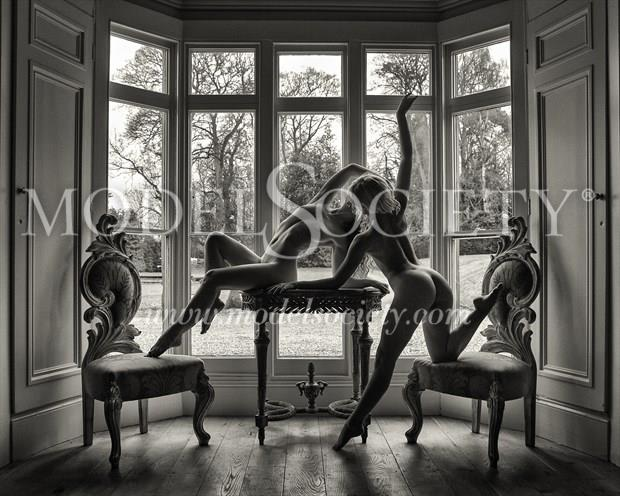Two matching Chairs Artistic Nude Photo print by Photographer Carl Grim