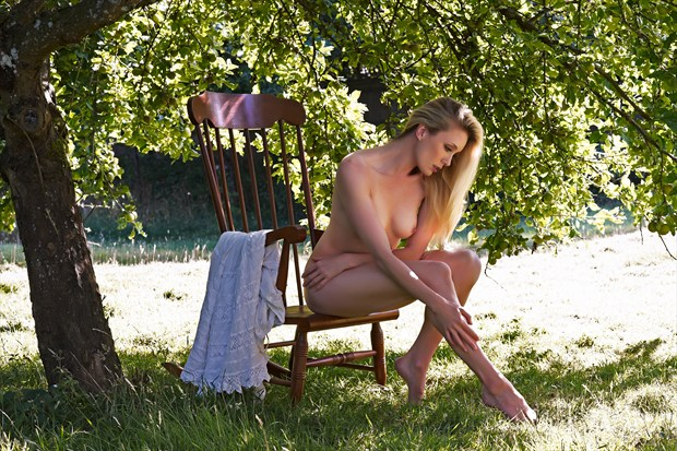 Under the  Apple Tree Artistic Nude Photo print by Photographer Ray Kirby