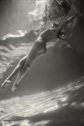 Underwater Flight Artistic Nude Photo print by Photographer EdR