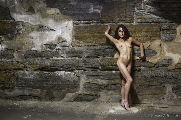 Up Against the Rock Wall Artistic Nude Photo print by Photographer HGitel