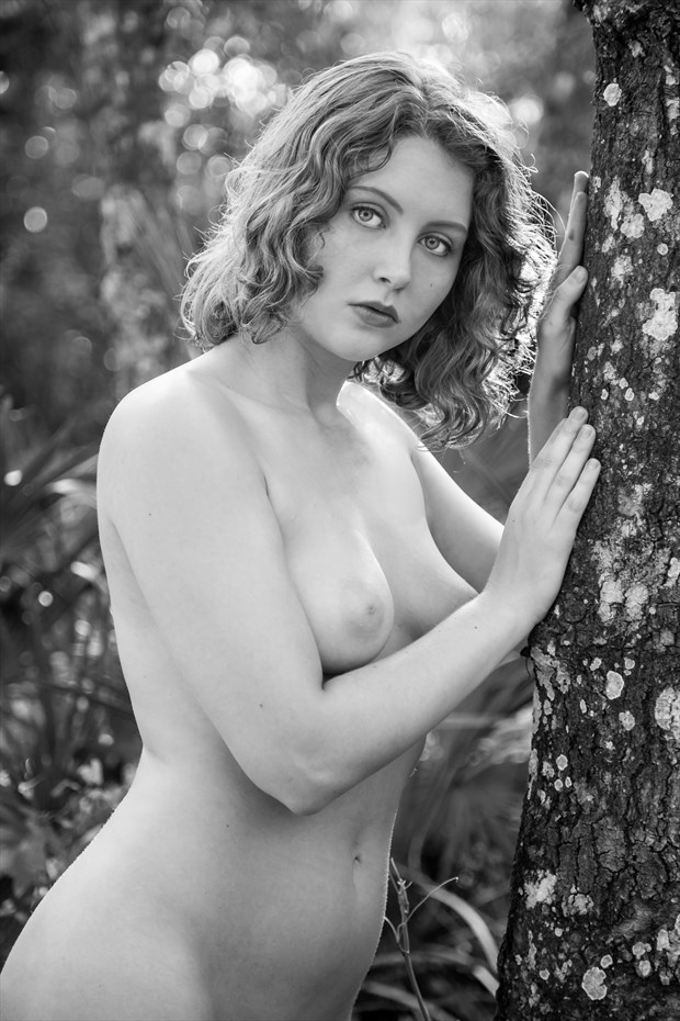 Visions of Lila Blue Artistic Nude Photo print by Photographer Risen Phoenix