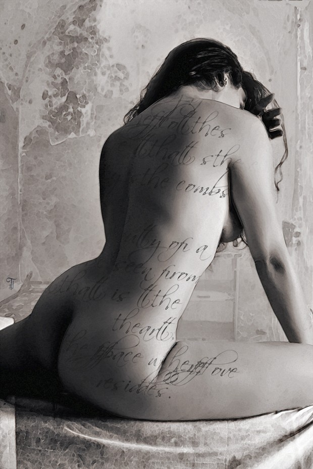 Visual Poetry Artistic Nude Photo print by Artist Todd F. Jerde