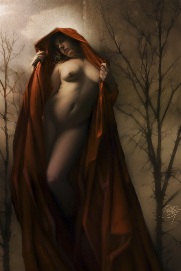 Waiting for the Wolf Artistic Nude Artwork print by Artist David Bollt